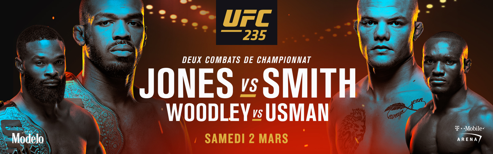 UFC 235 - Jones vs Smith - Samedi 2 mars